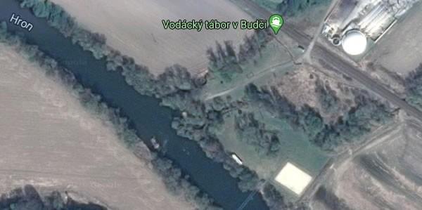 Vodácky tábor ALEX na mape